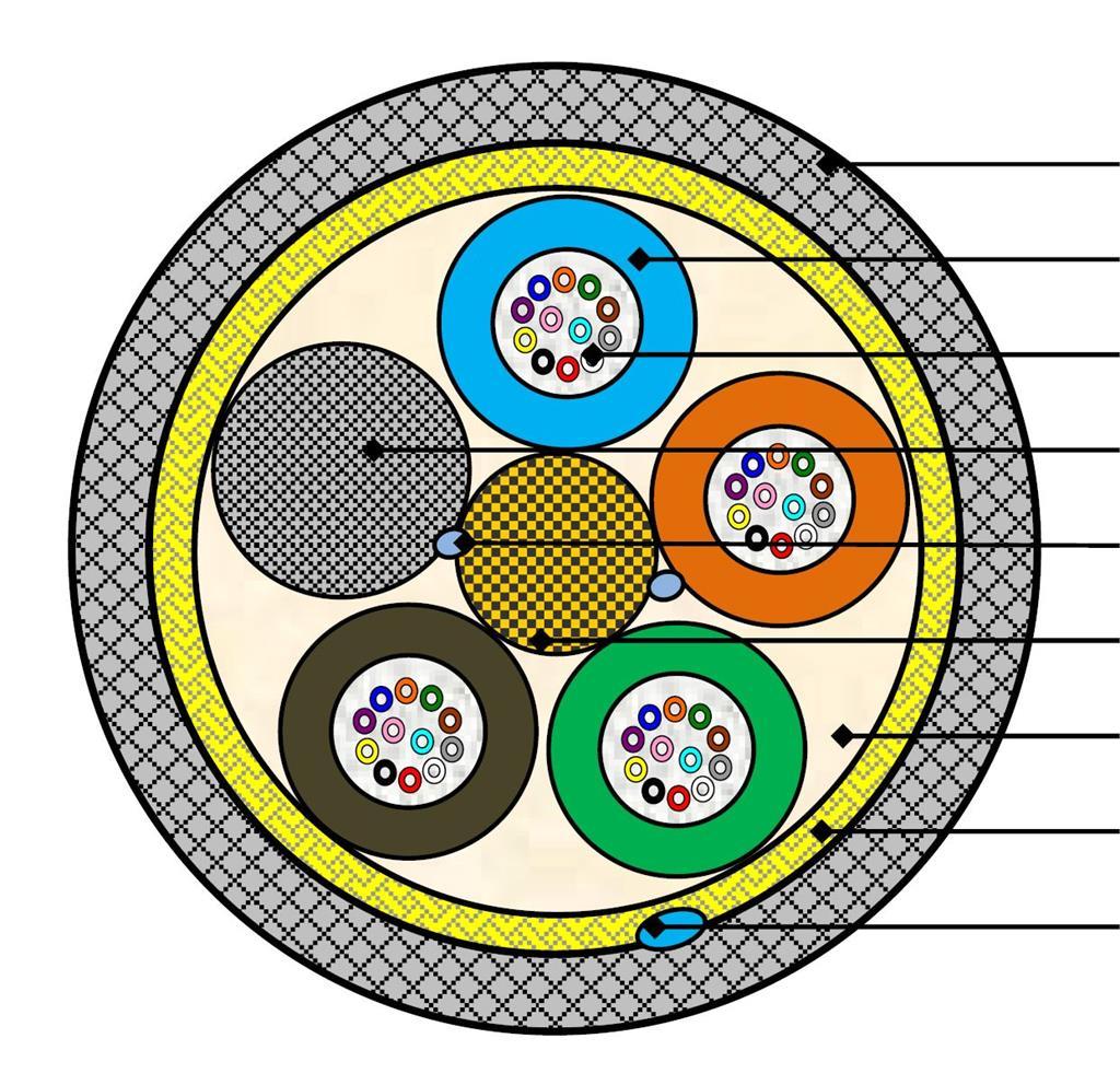 FiberKabel SM ADSS G12 IK Span 70 G657A1, Ø9,6mm